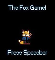 """The Fox Game"" title screen"