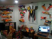 A sizable Nerf collection