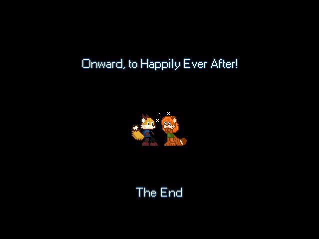Ending screen - onward, to happily ever after!
