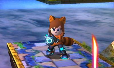 Seley Mii in Smash Bros 3DS