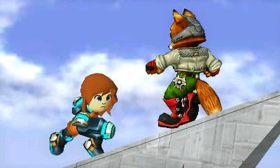 Seley and Fox in Smash Bros